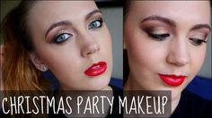 Christmas Party Makeup Tutorial - Red Lips and Golden Eyes