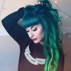 Green hair goals- Q&A with @maria_lawliet | #FoxFamily – Arctic Fox - Dye For A Cause