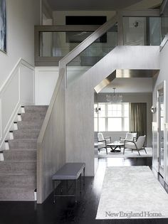 Staircase for a contemporary home.
