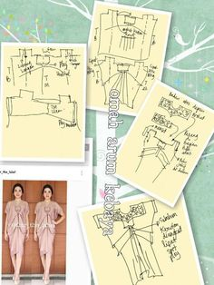 Discover thousands of images about Dress pattern Easy Sewing Patterns, Clothing Patterns, Dress Patterns, Collar Pattern, Top Pattern, Kaftan Pattern, Pattern Dress, Simple Dress Pattern, Batik Dress