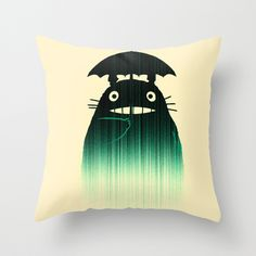 We watched Totoro for movie night tonight. Love this movie! :: A Friend in the Rain Pillow Cover