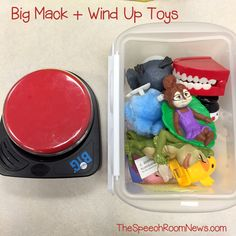 Usually I use wind ups for intraverbals but you can use a switch for non verbal kiddos. :) 10 SLP Ways to Play: Wind Up Toys Speech Activities, Speech Pathology, Speech Therapy Activities, Speech Language Pathology, Language Activities, Speech And Language, Articulation Activities, Speech Room, Therapy Ideas