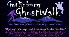 "Do the spirits of early pioneers still frequent old frontier trails? What former actress still haunts a popular overnight stay? Which well-known attraction of the town is still haunted by the spirits of several early settlers? You and your family, or friends will be amazed by these and other even more intriguing discoveries presented throughout the NEW ""Haunted Historic Gatlinburg GhostWalk"". #Gatlinburg #attractions #whattodo #family #fun"