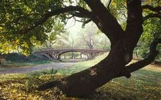A path I ran very often in Central Park, Love this bridge.