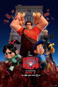 Ralph, Vanellope, Fix-It Felix an Sergeant Calhoun together in the new WRECK-IT RALPH poster
