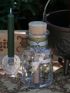 Celtic Leaf Spell Jar - Witch Bottle Pendant - Witch Jar -Wish ...