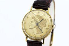 14K Gold Coin Jules Jurgensen Corp Wrist by timekeepersinclayton
