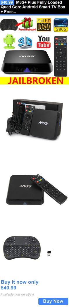 Home Audio: M8s+ Plus Fully Loaded Quad Core Android Smart Tv Box + Free Keyboard BUY IT NOW ONLY: $40.99