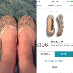 YOSI SAMRA Serena Glitter Ballet Flats from Stitch Fix. I love Stitch Fix! A personalized styling service and it's amazing!! Simply fill out a style profile with sizing and preferences. Then your very own stylist selects 5 pieces to send to you to try out at home. Keep what you love and return what you don't. Only a $20 fee which is also applied to anything you keep. Plus, if you keep all 5 pieces you get 25% off! Free shipping both ways. Schedule your first fix using the link below…