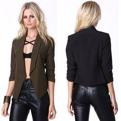 Women's Fashion One Button Slim Casual Business Blazer Suit Jacket Coat Outwear #Unbranded #BasicCoat