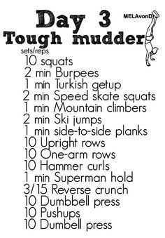 Straight, No Chaser (And a Tough Mudder Workout!)