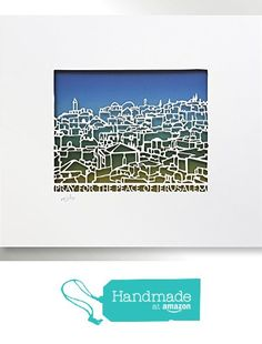 Pray for the peace of Jerusalem - Papercut, wall hanging, Judaica art, Ready for…