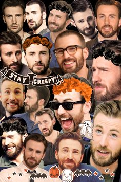 A Chris Evans Halloween collage that no one asked for :) Chris Evans Haircut, Chris Evans Beard, Robert Evans, Chris Evans Tumblr, Chris Evans Funny, Capitan America Chris Evans, Chris Evans Captain America, Marvel Universe, Chris Roberts