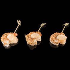Brochette Crevette Saint Jacques: Crevette sésame - Saint jacques