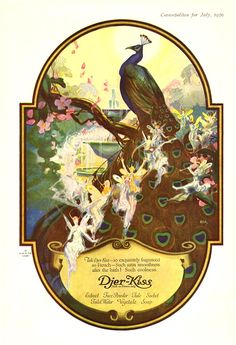 Free full-color vintage fairy illustrations in the public domain. From vintage advertising, children's books, and sheet music from the to Vintage Labels, Vintage Ads, Vintage World Maps, Vintage Prints, Art Nouveau, Art Deco, Peacock Art, Peacock Images, Peacock Theme