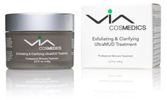 VIA ULTRAMUD | Exfoliating and Clarifying Facial Mud Mask | AHA/BHA Treatment with Glycolic, Salicylic, Mandelic Acids | Instantly Softens and Smooths Skin | Deep Cleanses Pores and Clears Blemishes ** You can get more details by clicking on the image.