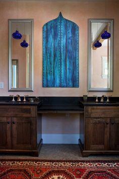 mediterranean - moroccan - Bathroom - Nashville - Marcelle Guilbeau, Interior Designer.   www.marcelleguilbeau.com #moroccan #ogee #turquoise