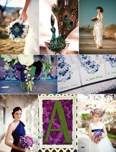 Regal Peacock Wedding Color Inspiration