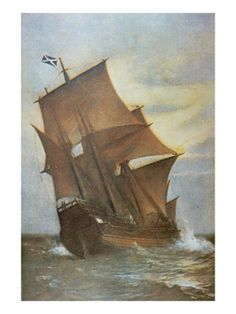 I have a strange soft spot for old paintings of ships