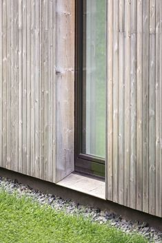 Family House in Pavilnys,© Norbert Tukaj Wood Cladding Exterior, Exterior Siding Options, Larch Cladding, House Cladding, Exterior Trim, Wood Siding, Wooden Facade, House Extensions, Residential Architecture