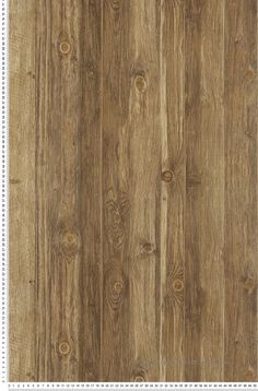 Trompe l'œil effet bois brun - Wood'N Stone
