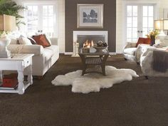 """Carpeting in style """"Sweet Feeling"""" color Cocoa Wood - by Shaw Floors White Carpet, Patterned Carpet, White Rug, Fur Carpet, Shaw Carpet, Plush Carpet, Wall Carpet, Bedroom Carpet, Living Room Carpet"""