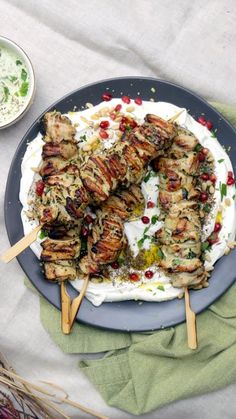 Marinaded herby, garlicky goodness, these grilled chicken skewers need to be at your next BBQ party.