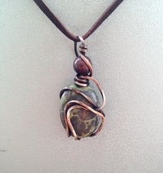 Unique Oxidized Copper Wire Chaos Wrap Mystery by CraftsbyLayna, $15.00