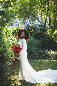 Cowl back, soft crepe long sleeve wedding dress by Martina Liana Wedding Bride, Wedding Gowns, Dream Wedding, Bridal Skirts, African American Weddings, Bridal Photoshoot, Black Bride, Wedding Dress Trends, Bride Gowns