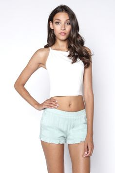 90s Lullaby - RUFFLE ME UP MINT SHORTS, $18.99 (http://www.90slullaby.com/shop/ruffle-me-up-mint-shorts/)