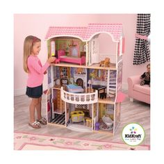 KidKraft Storybook Mansion Three-Story Wooden Dollhouse for 12 Dolls with Accessories Baby Doll House, Baby Dolls, Reborn Dolls Silicone, Hanging Chandelier, Multiplication For Kids, Wooden Dollhouse, 2nd Floor, Building Toys, Wood Construction