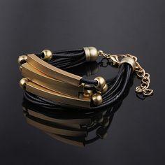 Cheap Caqui marrón negro hombres pulseras para para pulseras joyería oro encantos hombres hombres pulsera de cuero mujer pulseras y brazaletes, Compro Calidad Pulseras del encanto directamente de los surtidores de China: