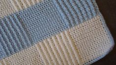 Crochet pattern for baby blue afghan.