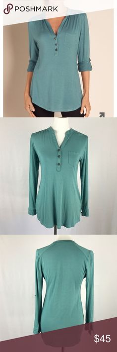 """Soft Surroundings Brittany Blue Sonora Top Size PS NWOT, Super soft fabric. 17"""" armpit to armpit 18"""" from armpit to bottom hem. 95%Rayon 5% Spandex Soft Surroundings Tops Blouses"""
