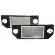 [US$15.99] 2x 24LEDs License Number Plate Light Lamps for Ford Focus C-MAX 03-07  #0307 #24leds #cmax #focus #ford #lamps #license #light #number #plate