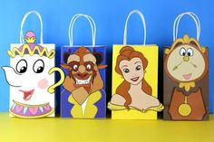 DIY Beauty & The Beast Party Favor Bags. Simply Download, Print, Cut and Paste. Print as many copies as you need. Small cost but could be good for Tinkerbell gifts