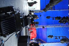 The stage is getting set up.