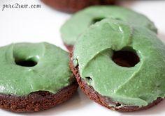 Chocolate Mint Cake Donut (gluten-free, vegan, soy-free, low in sugar)