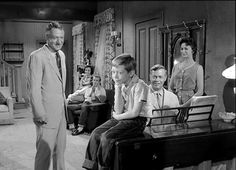 John Larch, Lenore Kingston, Tom Hatcher, Bill Mumy, Max Showalter and Jeanne Bates in the TWILIGHT ZONE episode, IT'S A GOOD LIFE (1961)