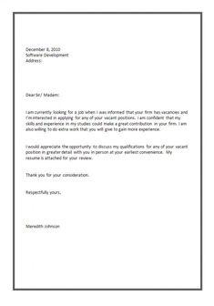 Sample Cover Letter  Cover Letter Tips  Guidelines  Career