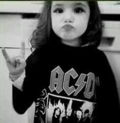 awwww little AC DC fan!!