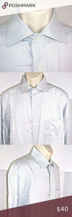 NEW LANDS END MENS FRENCH CUFF//STRAIGHT COLLAR PINPOINT WHITE DRESS SHIRT 20 35