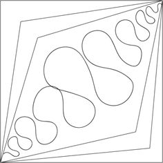 Free Motion Quilting design idea with rulers: source:  Kathleen Quilts