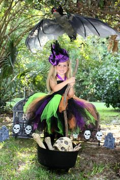 Witch Costume...Witch Tutu Dress...Halloween Tutu...Witch Halloween on Etsy, $50.00