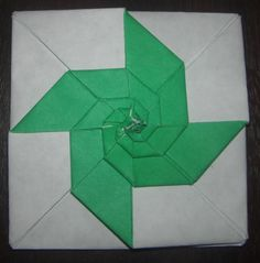Origami - How to fold a Spiraled Square