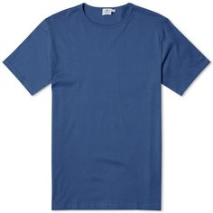 Sunspel Q82 Crew Neck Tee (Blueberry)