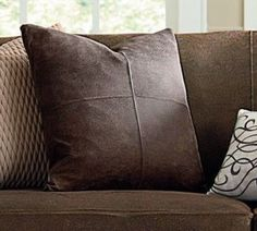 Ultimate Stretch Leather Pillow Slipcover