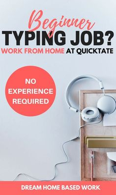 Quicktate hires general transcribers to work from home regardless of their experience level and are always open to those starting out. Wats to work from home and earn money online Earn Money From Home, Earn Money Online, Way To Make Money, Money Today, Online Typing Jobs, Online Jobs, Online Careers, Eve Online, Work From Home Companies