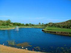 See im Golfplatz im La Manga Club, Spanien