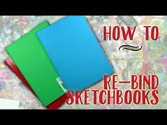 Here's how I Re-Bind Stapled Single Signature Sketchbooks, Journals. Art Journal Prompts, Art Journal Techniques, Art Journal Pages, Art Journaling, Greeting Card Book, Minnie Mouse Drawing, Hidden Art, Art Journal Tutorial, Watercolor Journal